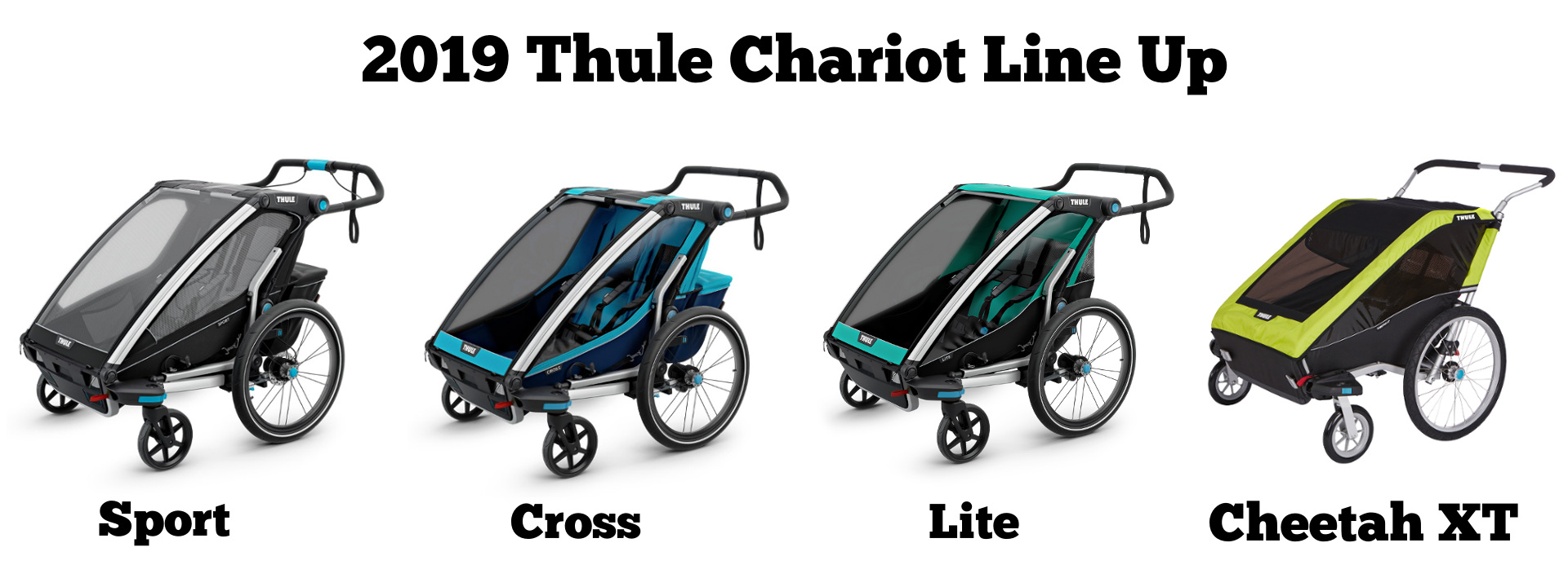 Thule Chariot Line Up - Sport, Cross, Lite, Cheetah XT