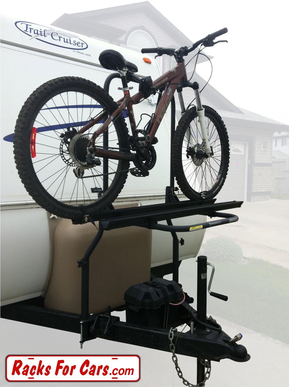 Tow Hitch Bike Rack >> Arvika RV Bike Racks carry your bicycles on RVs and fifth wheels - RacksForCars.com