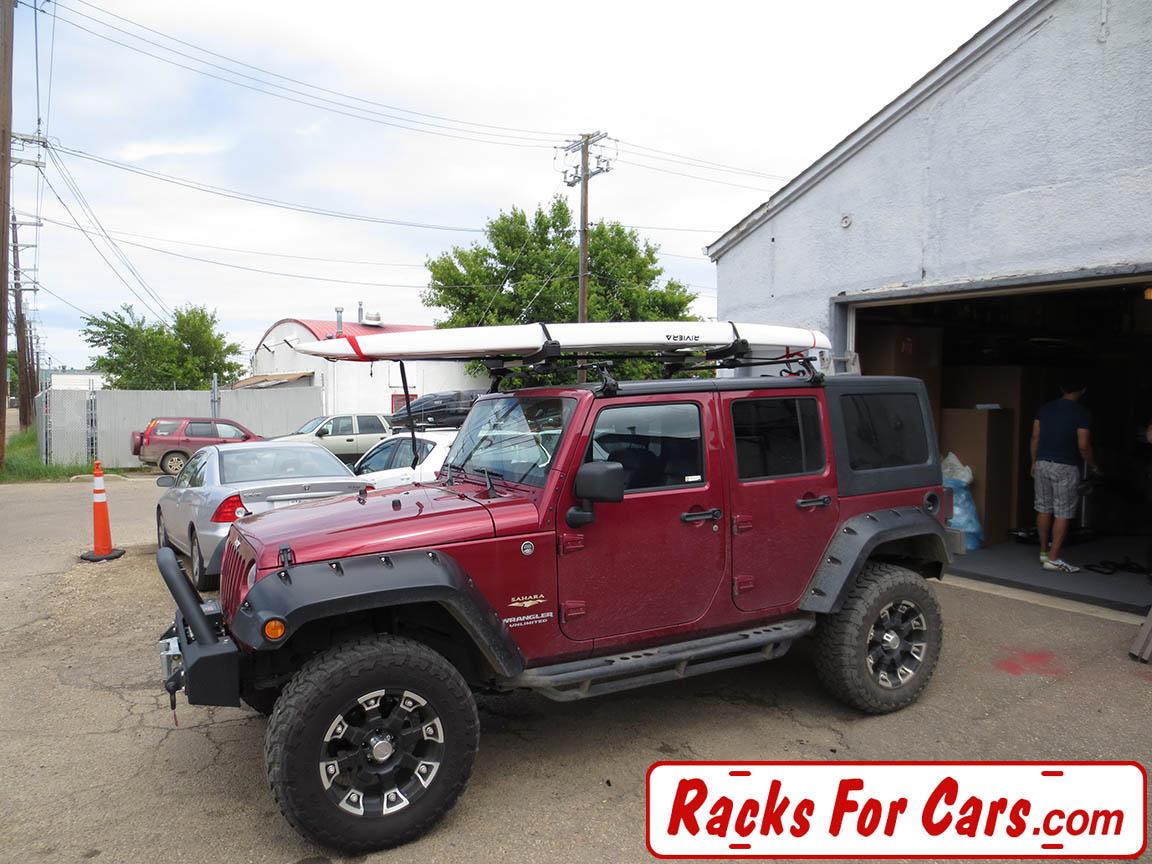 jeep wrangler hard top with yakima control tower hardtop landing pad kit
