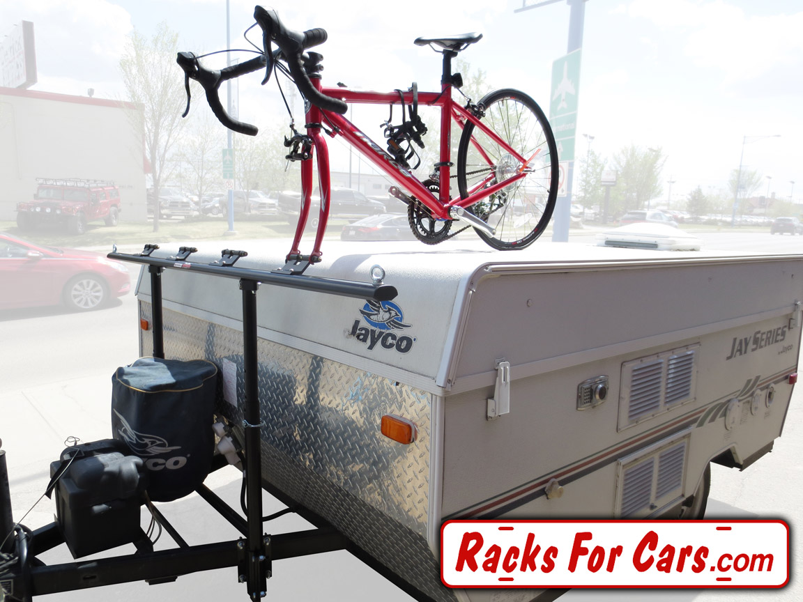prorac proformance tent trailer racks carry 2  4  or 6 bikes without drilling into your tent