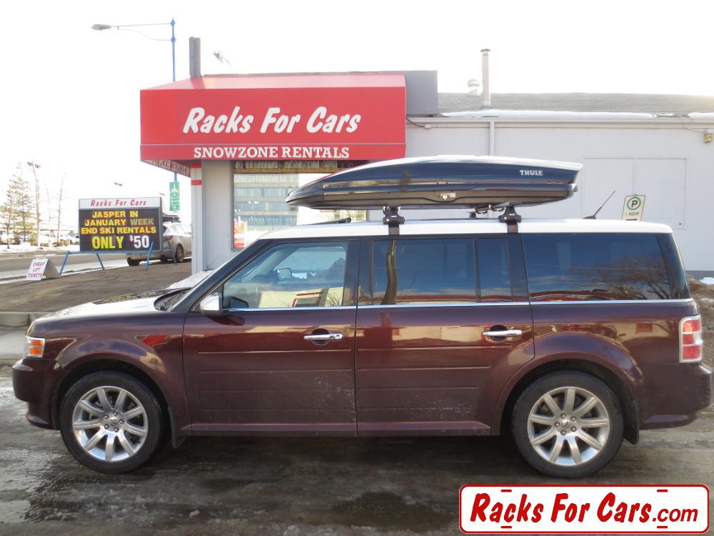 Ford Flex Roof Racks And Ski Box Thule 480r Traverse