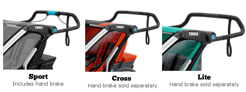 Thule Chariot Seat Hand Brake Comparison