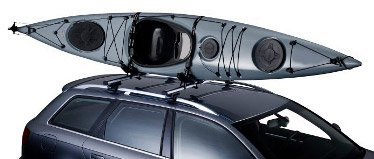 Thule watersports racks for kayaks, canoes, SUP boards, and surf boards
