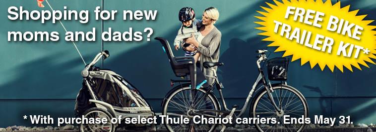 Free Thule Chariot bike trailer kit promotion