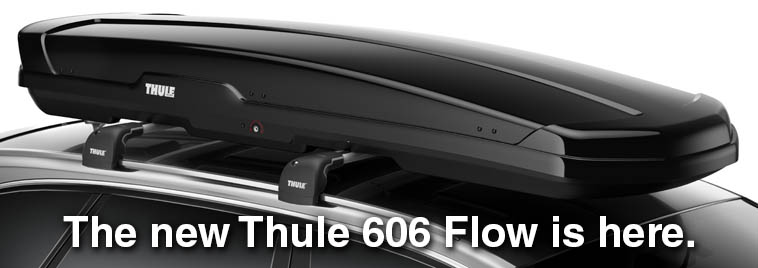 The new Thule 606 Flow low profile ski and cargo box is here.