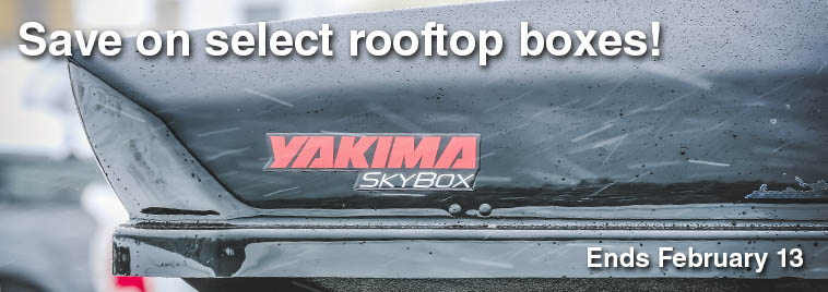 Yakima boxes on sale until February 13.